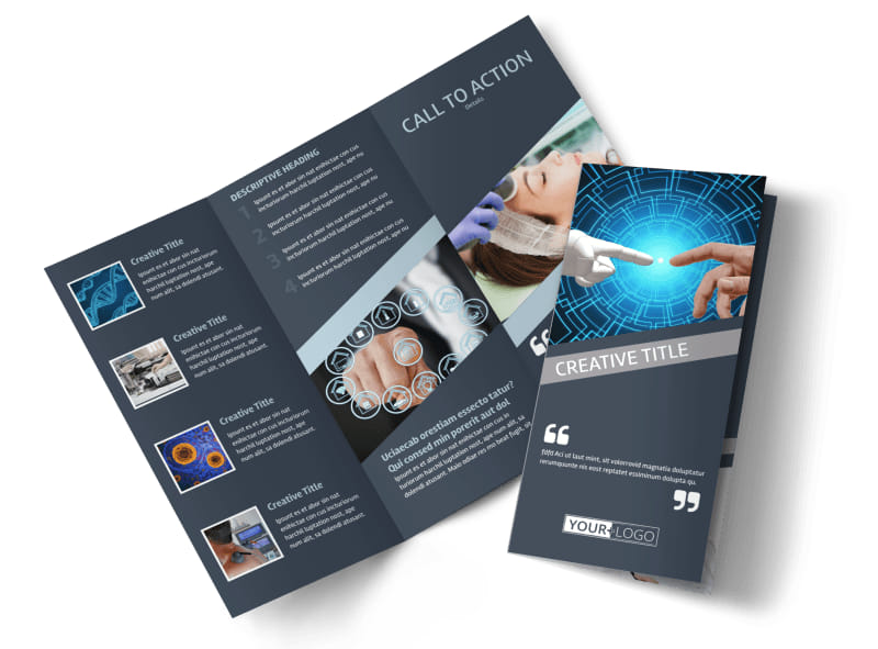 Medical Device Technology Tri-Fold Brochure Template