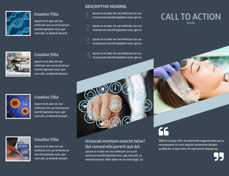 Medical Device Technology Brochure Template Preview 3