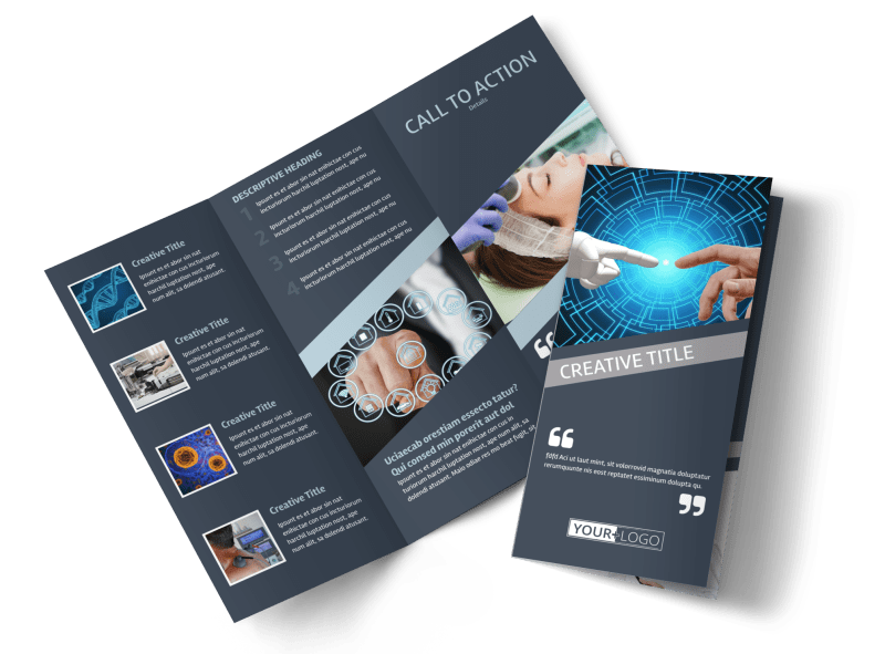 Medical Device Technology Brochure Template Preview 1