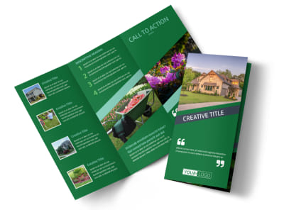 Big Landscape Tri-Fold Brochure Template preview