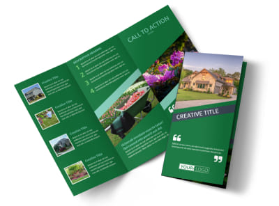 Big Landscape Tri-Fold Brochure Template