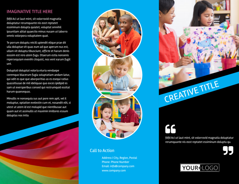 Arts & Craft Lessons Brochure Template Preview 2