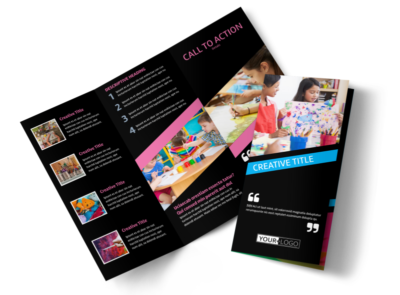 Arts & Craft Lessons Brochure Template Preview 1