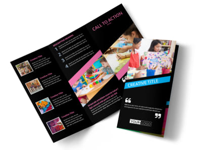 Arts & Craft Lessons Tri-Fold Brochure Template preview