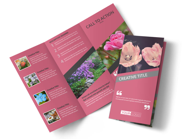Floral Photography Tri-Fold Brochure Template