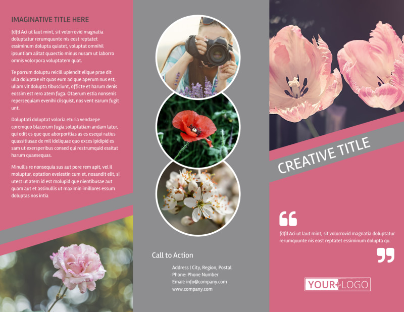 Floral Photography Brochure Template Preview 2