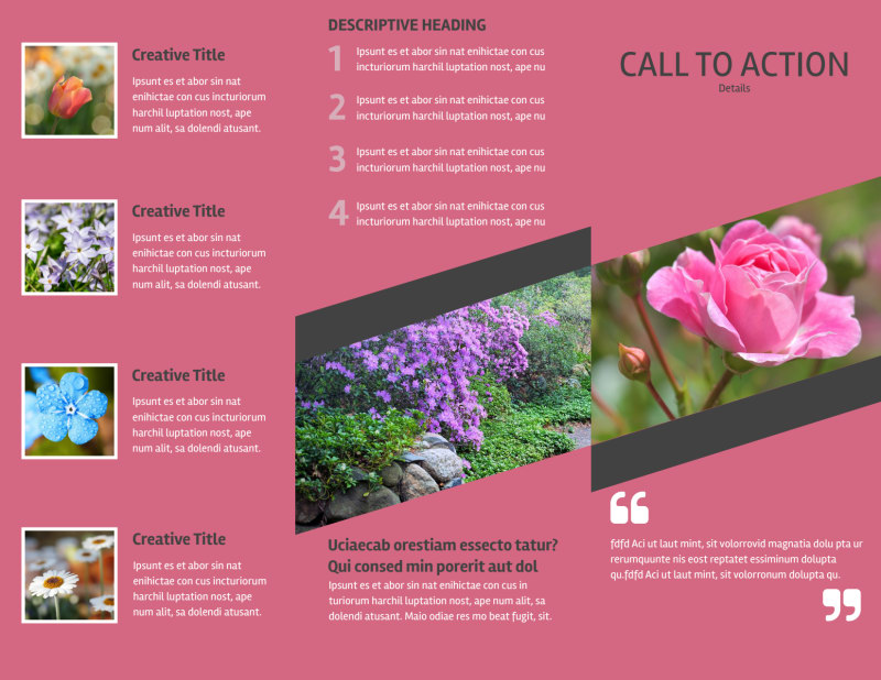 Floral Photography Brochure Template Preview 3