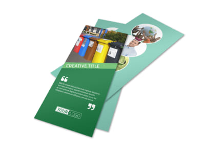 Green Living & Recycling Rack Card Template 2