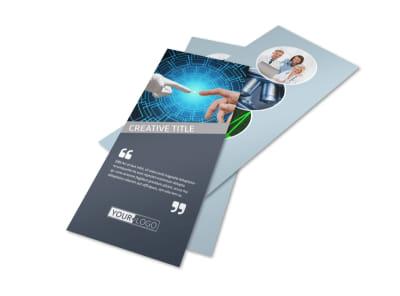 Medical Device Technology Flyer Template MyCreativeShop - Rack card design template