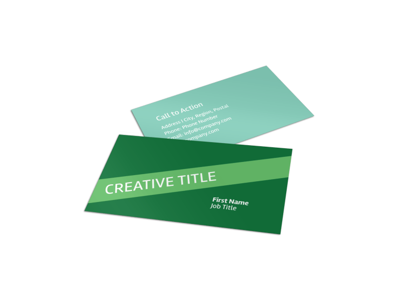 Green Recycling Service Business Card Template Preview 1
