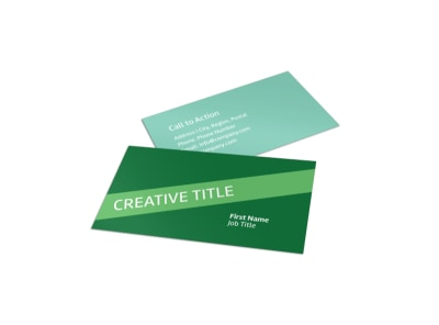 Green Living & Recycling Business Card Template preview