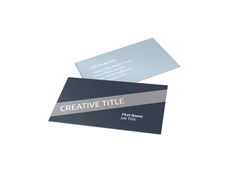 Medical Device Technology Business Card Template | MyCreativeShop