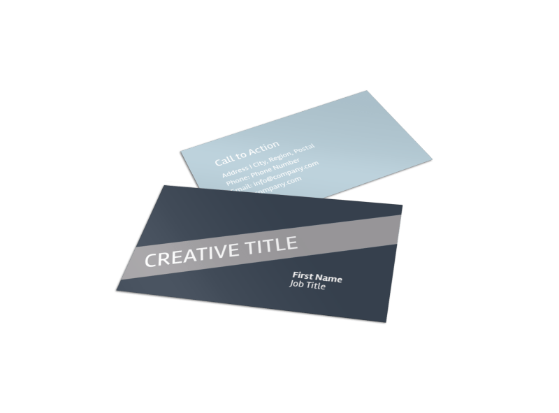 Medical Device Technology Business Card Template Preview 1