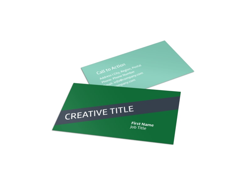 Big Landscape Business Card Template