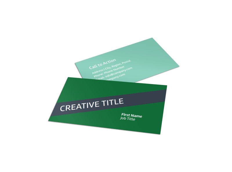 Big Landscape Business Card Template Preview 1
