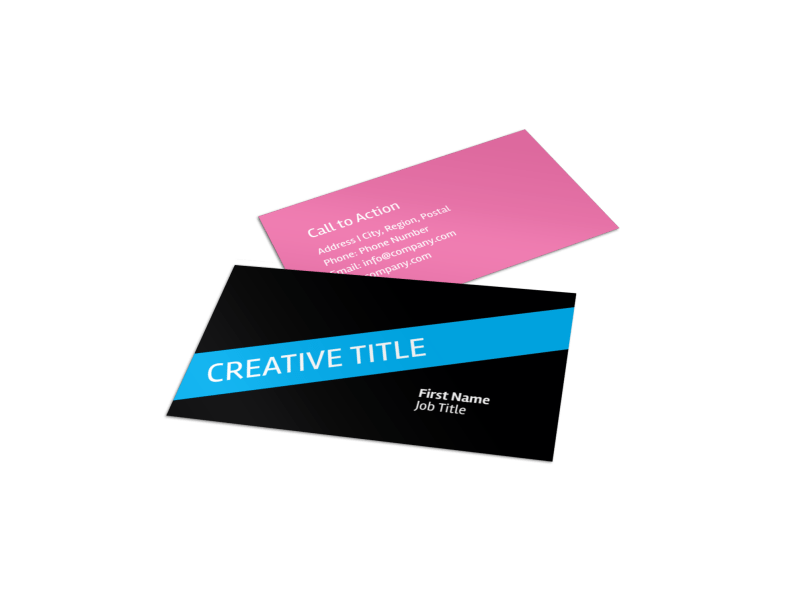 Arts & Craft Lessons Business Card Template Preview 1