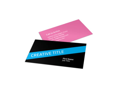 Arts & Craft Lessons Business Card Template preview