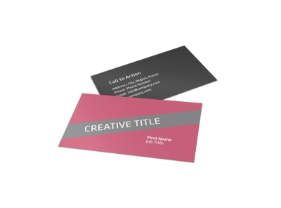 Floral Photography Business Card Template preview