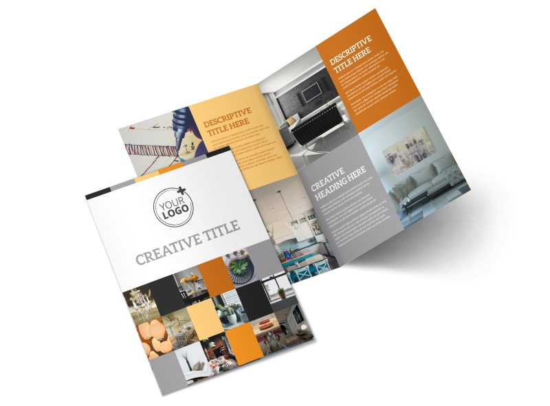 Interior designer home decor business brochure templates for Interior design brochure