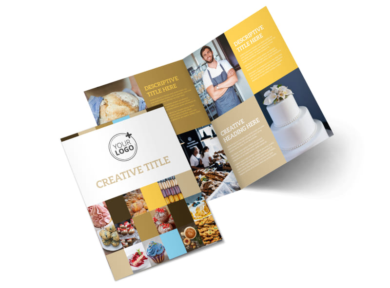 Smell Good Bakery Bi-Fold Brochure Template 2