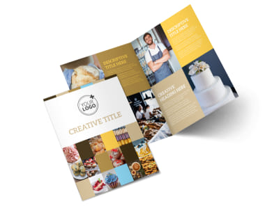 Smell Good Bakery Bi-Fold Brochure Template 2 preview