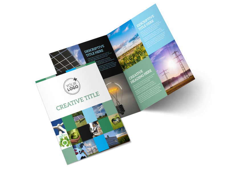 Green Energy Technology Center Bi-Fold Brochure Template 2