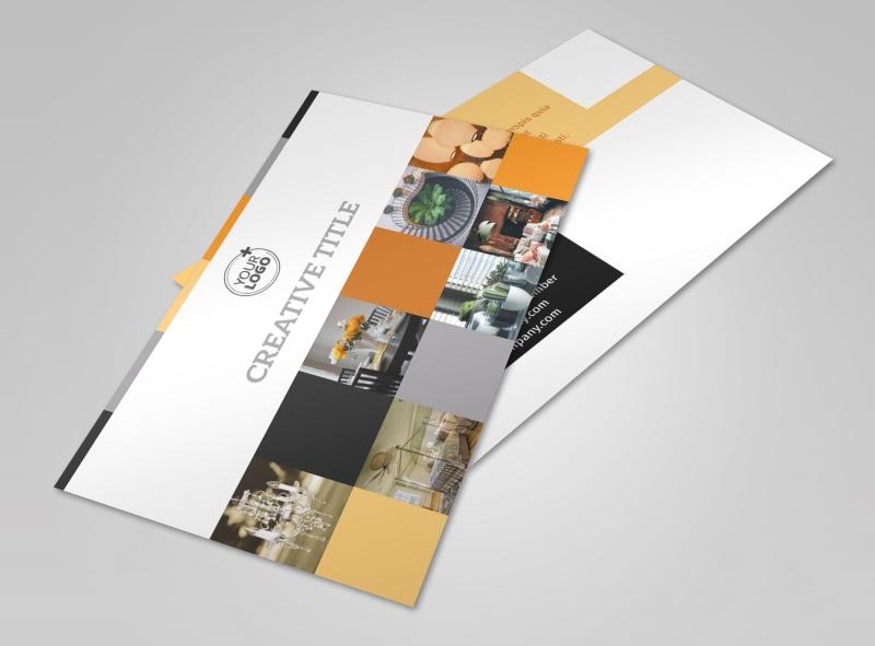 Creative Interior Design Postcard Template 2