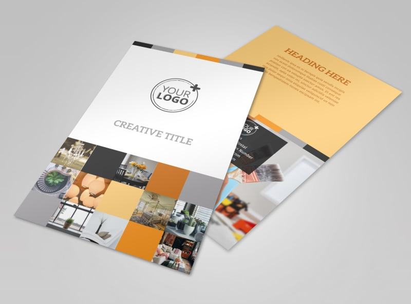 Creative Interior Design Flyer Template 3
