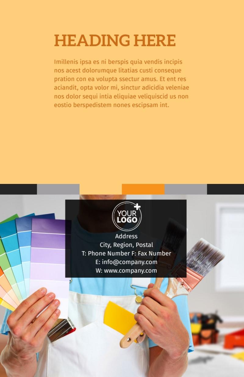 Creative Interior Design Flyer Template Preview 3