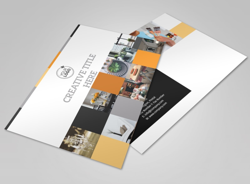 Creative Interior Design Brochure Template | Mycreativeshop