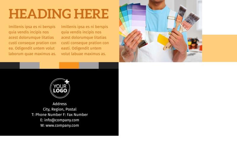 Creative Interior Design Postcard Template Preview 3