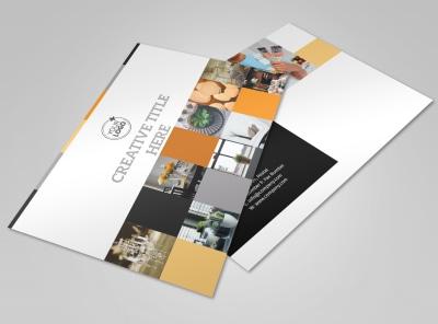 Creative Interior Design Postcard Template preview