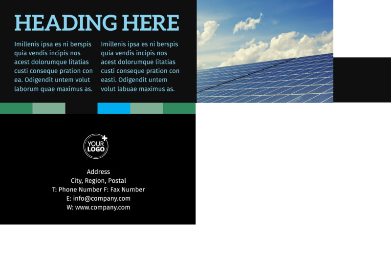 Green Energy Technology Center Postcard Template Preview 3