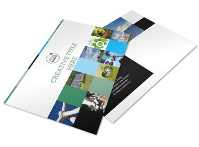 Green Energy Technology Center Postcard Template preview