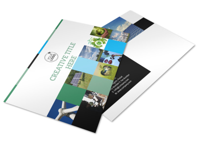 Green Energy Technology Center Postcard Template preview