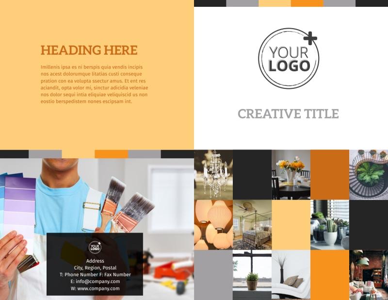 Creative Interior Design Brochure Template Preview 2