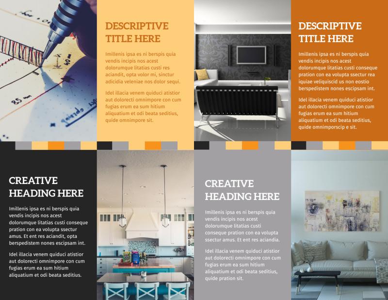 Creative Interior Design Brochure Template Preview 3