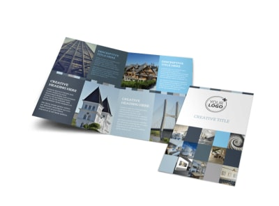 Architecture & Design Studio Bi-Fold Brochure Template preview