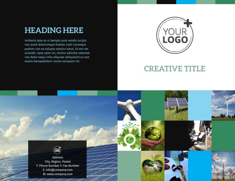Green Energy Technology Center Brochure Template Preview 2