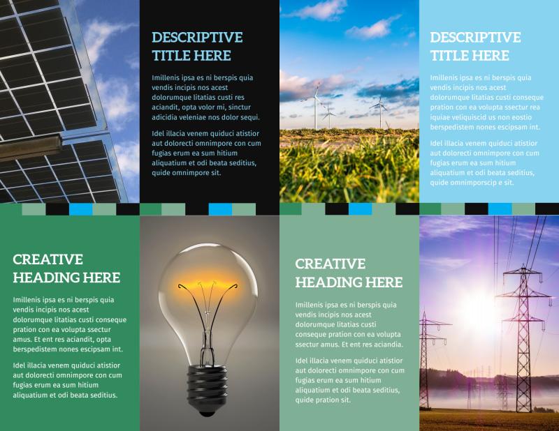 Green Energy Technology Center Brochure Template Preview 3