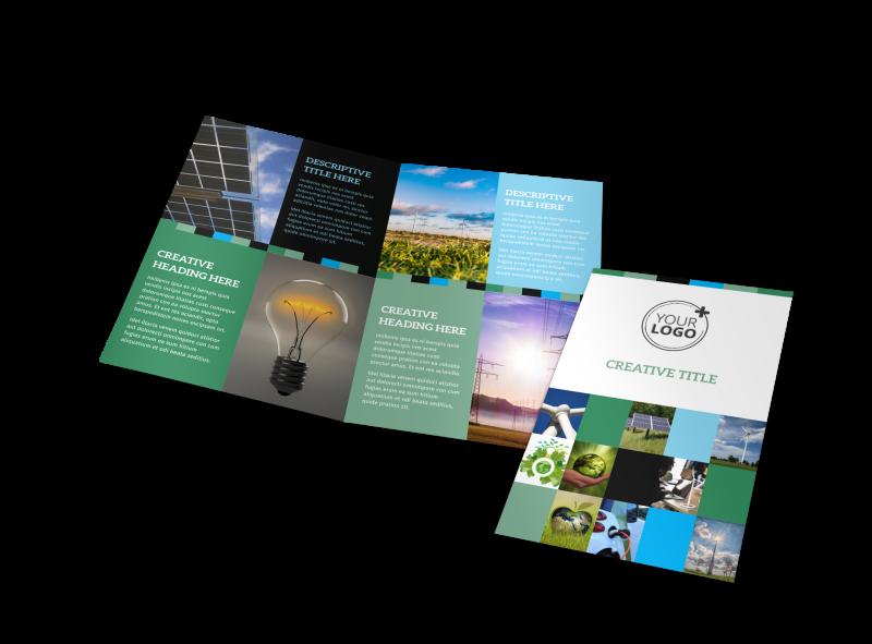 Green Energy Technology Center Brochure Template Preview 1