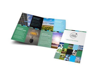 Green Energy Technology Center Bi-Fold Brochure Template preview