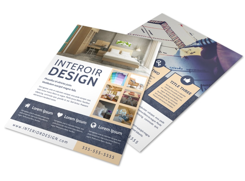 Creative Interior Design Flyer Template  Mycreativeshop