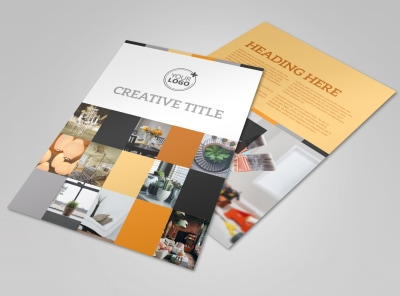 Creative Interior Design Flyer Template preview