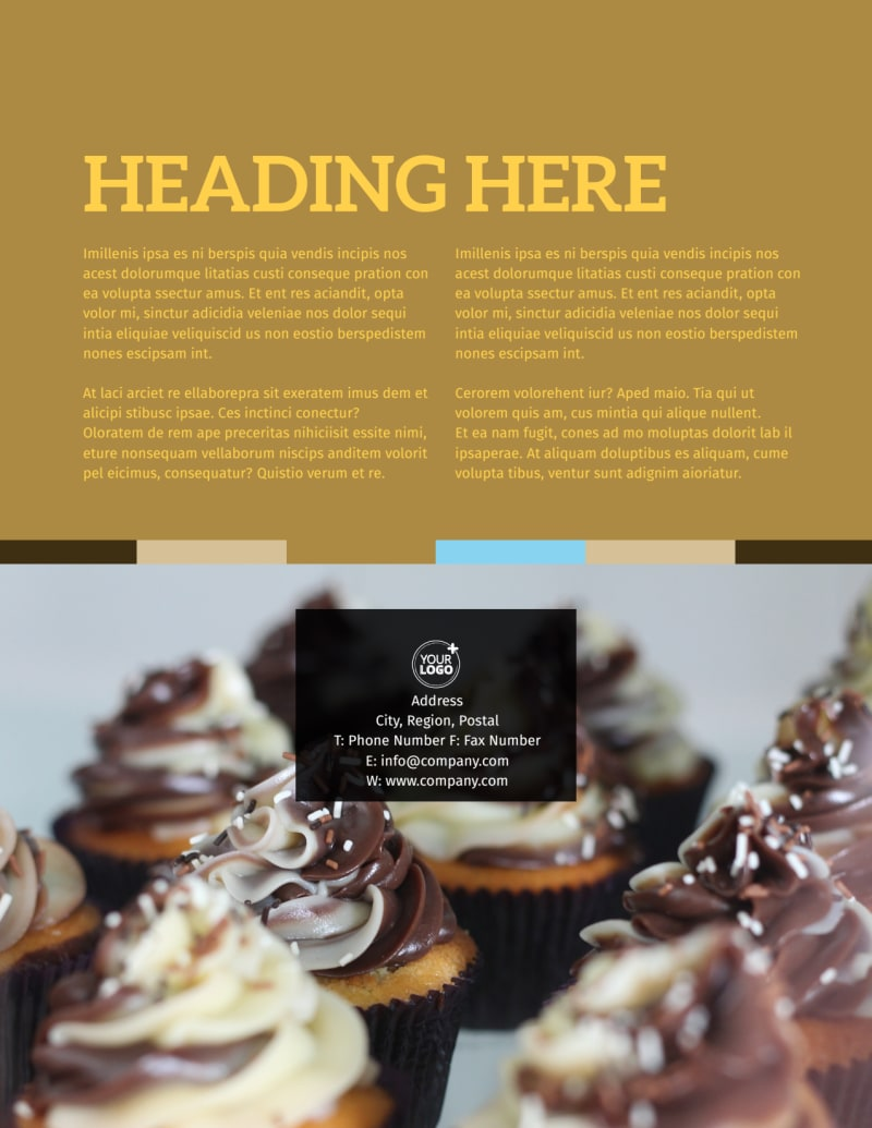 Smell Good Bakery Flyer Template Preview 3