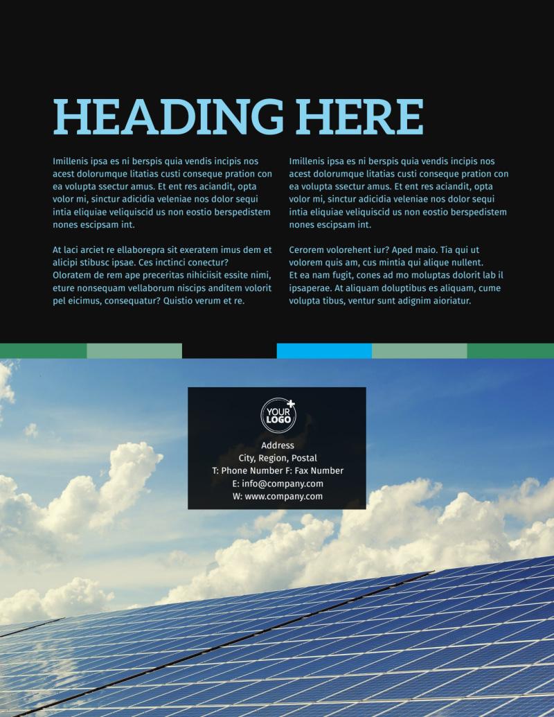 Green Energy Technology Center Flyer Template Preview 3