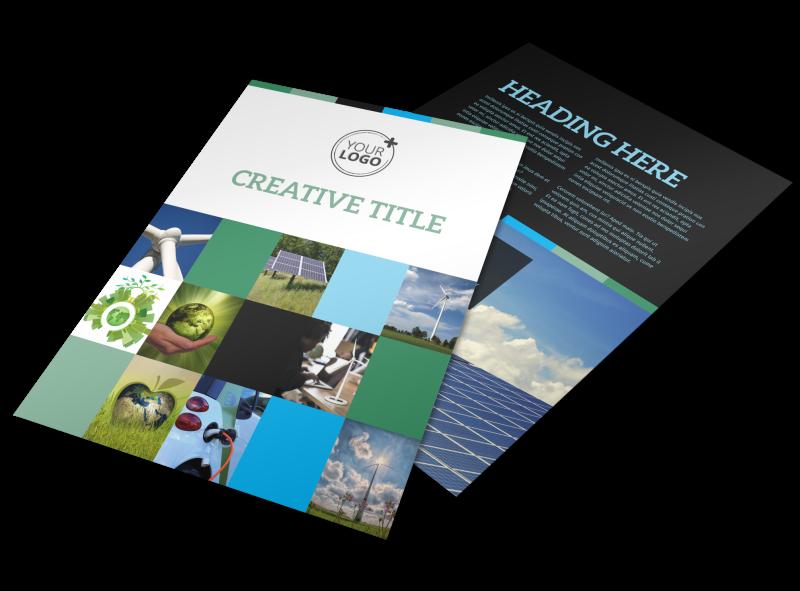 Green Energy Technology Center Flyer Template Preview 1