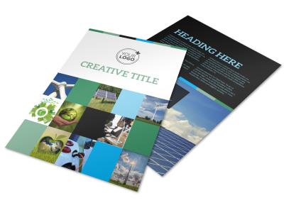 Green Energy Technology Center Flyer Template preview