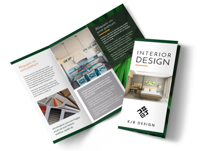 Interior Designer Tri Fold Brochure Template preview