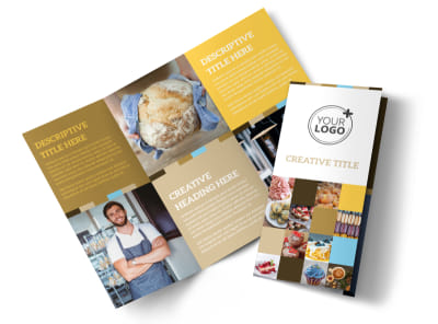 Smell Good Bakery Tri-Fold Brochure Template preview